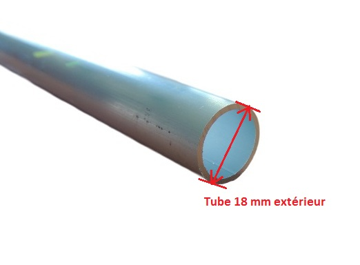 tube aluminium 18 mm rond lisse paisseur 1 5 mm pour. Black Bedroom Furniture Sets. Home Design Ideas
