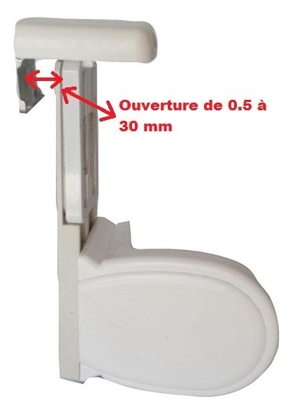 Support store sans percage avec grille de ventilation for Installation aeration fenetre pvc